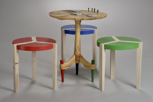 Cribbage Table & Stools