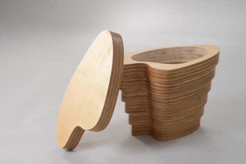 Stack Laminated Side Table