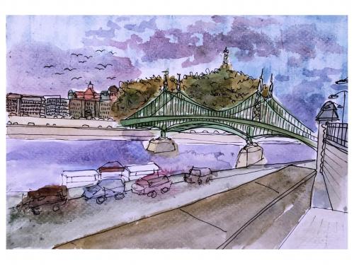 Camille Gatapia - Chain Bridge, Budapest
