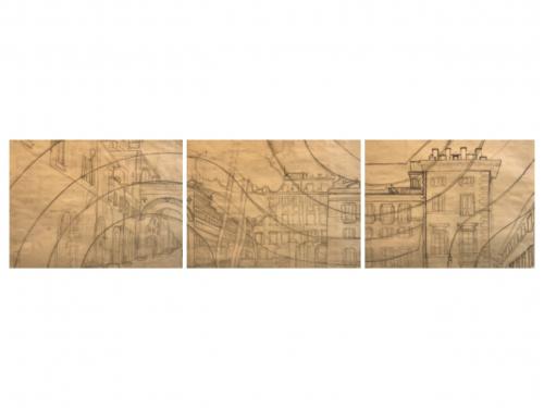 Darya Geary - Triptych Drawing