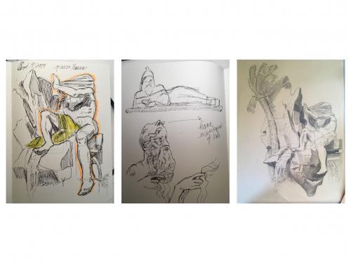 Marissa Elsberry - Triptych Sketchs