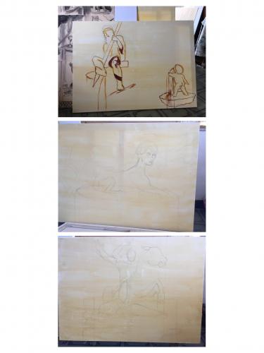 Marissa Elsberry - Triptych process work